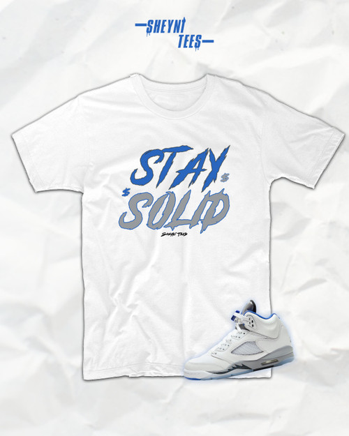 Stay Solid Blue Alternate Tee