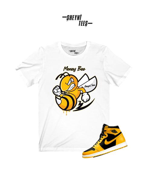 Money Bee White Short Sleeve Tee
