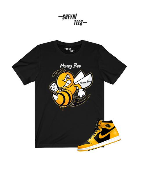 Black Money Bee Short Sleeve Tee