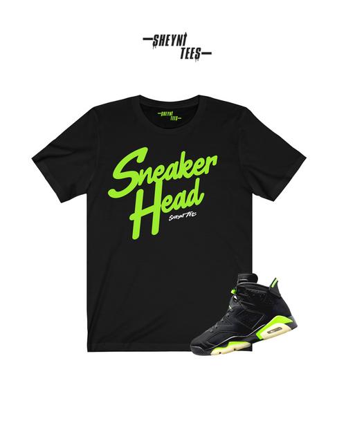 Sneaker Head Electric Green Tee