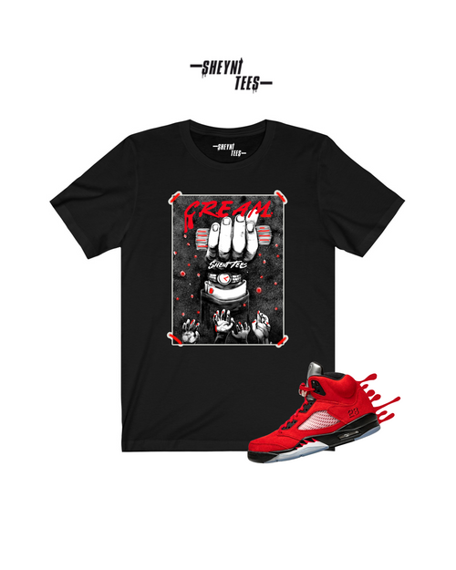 CREAM Black and Red  Short Sleeve Tee