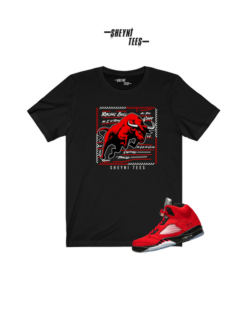 Raging Bull Black/Red Short Sleeve Tee
