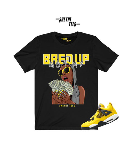 Bred Up Black and Yellow Tee