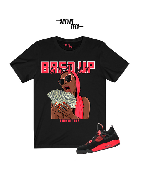 Bred Up Black and Red Tee