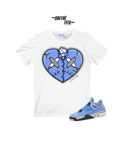 Patched Heart  Sleeve Tee