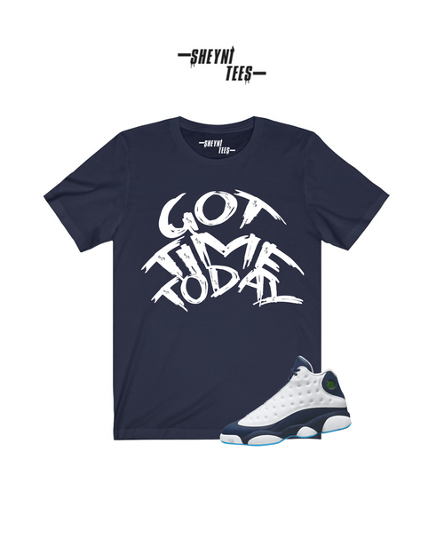 Got Time Today Navy Blue  Tee