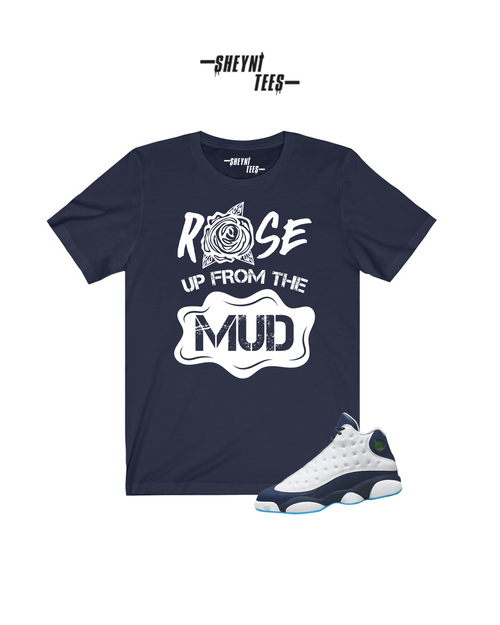 Rose From the Mud Navy Tee