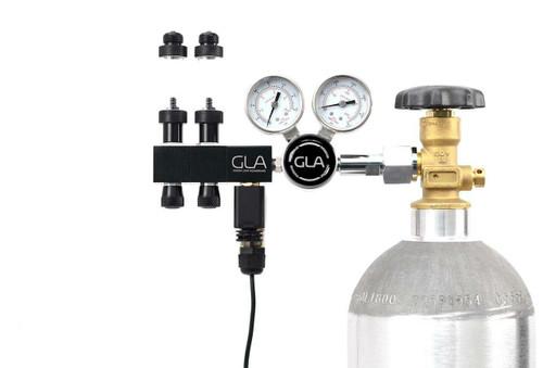 GLA PRO-DS-2 Dual Stage CO2 Regulator (2 Block Modular Manifold)