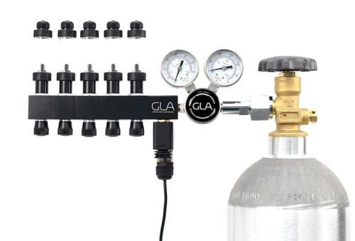 GLA PRO-DS-5 Dual Stage CO2 Regulator (5 Block Modular Manifold)