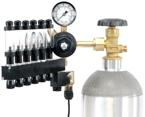 GLA PRO-6 Aquarium CO2 Regulator (6 Block Modular Manifold)