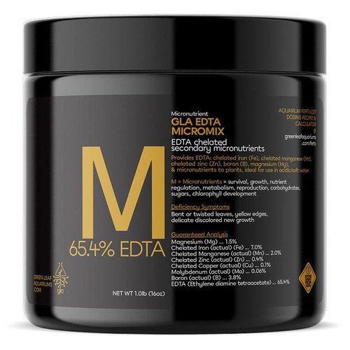 GLA (EDTA) Micromix Aquarium Fertilizer - 1lb Jar