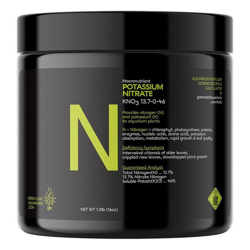 Potassium Nitrate (KNO3) Aquarium Fertilizer - 1lb Jar