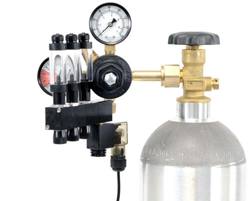GLA PRO-3 Aquarium CO2 Regulator (3 Block Modular Manifold)