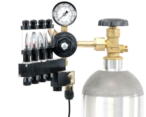 GLA PRO-4 Aquarium CO2 Regulator (4 Block Modular Manifold)