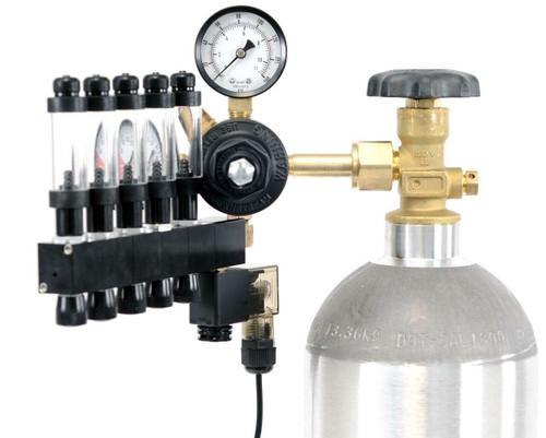 GLA PRO-5 Aquarium CO2 Regulator (5 Block Modular Manifold)