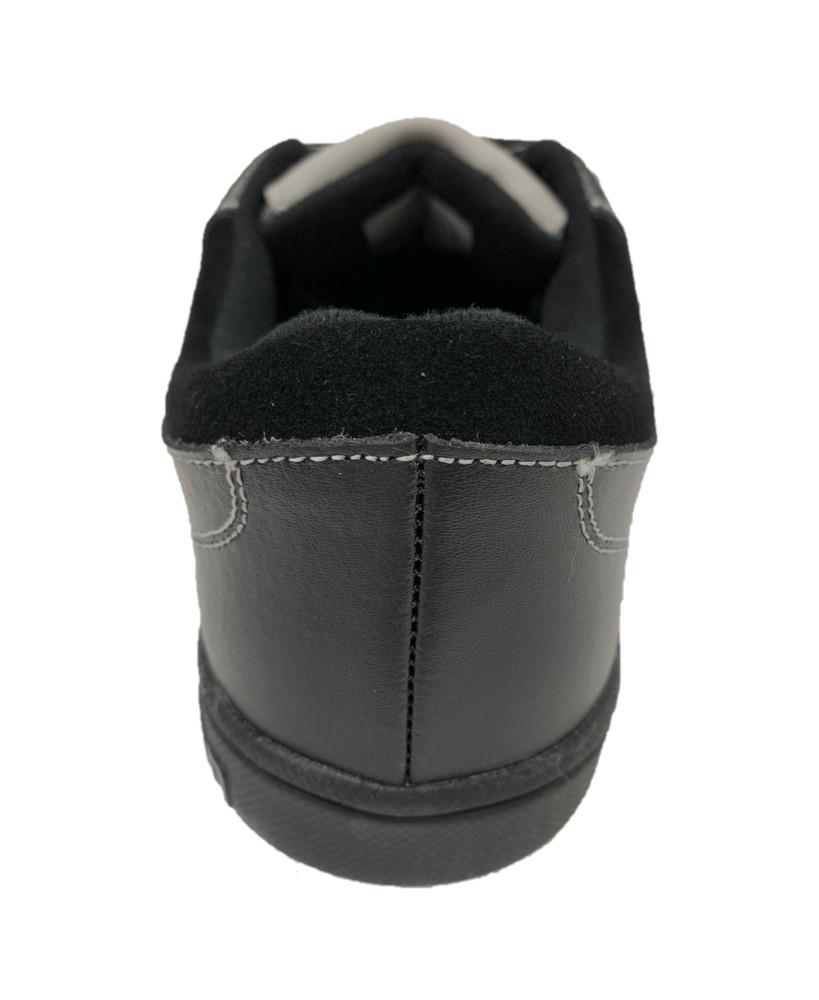 "Jill - Genesis Black Leather 1/16"" Split Slider"