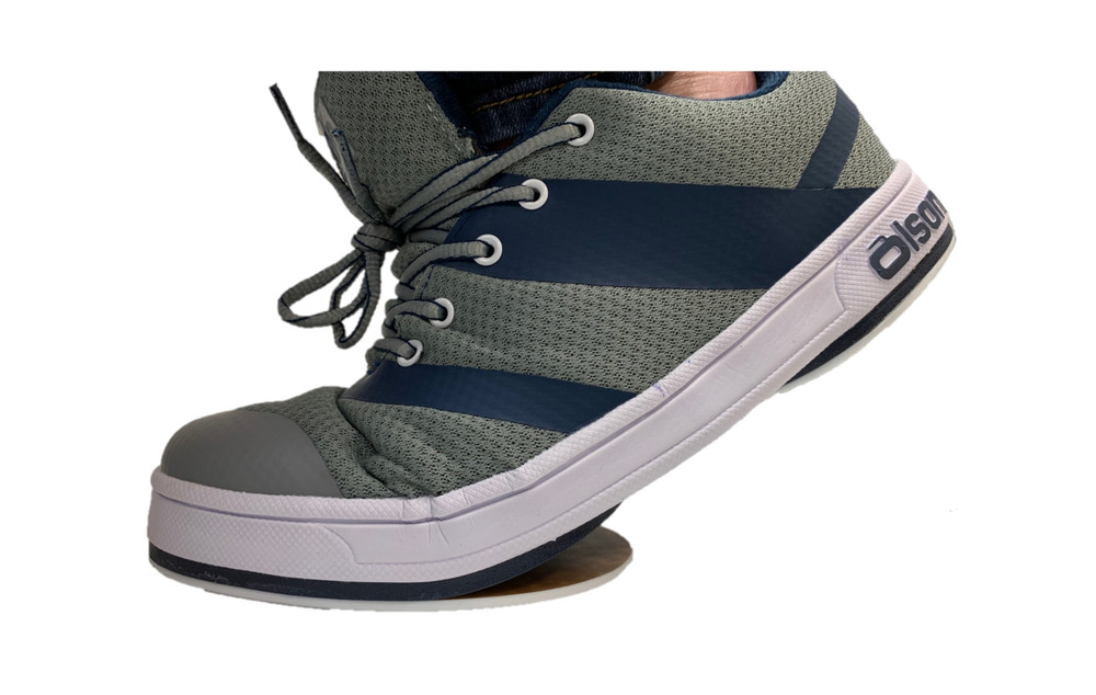 "Jill - CrossKicks Grey/Navy 1/4"" Flex Perimeter Slider"