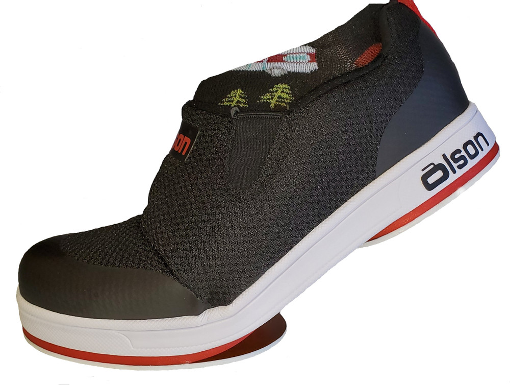 "Jill - ZAPA Black/Red 1/8"" Flex Perimeter Slider"
