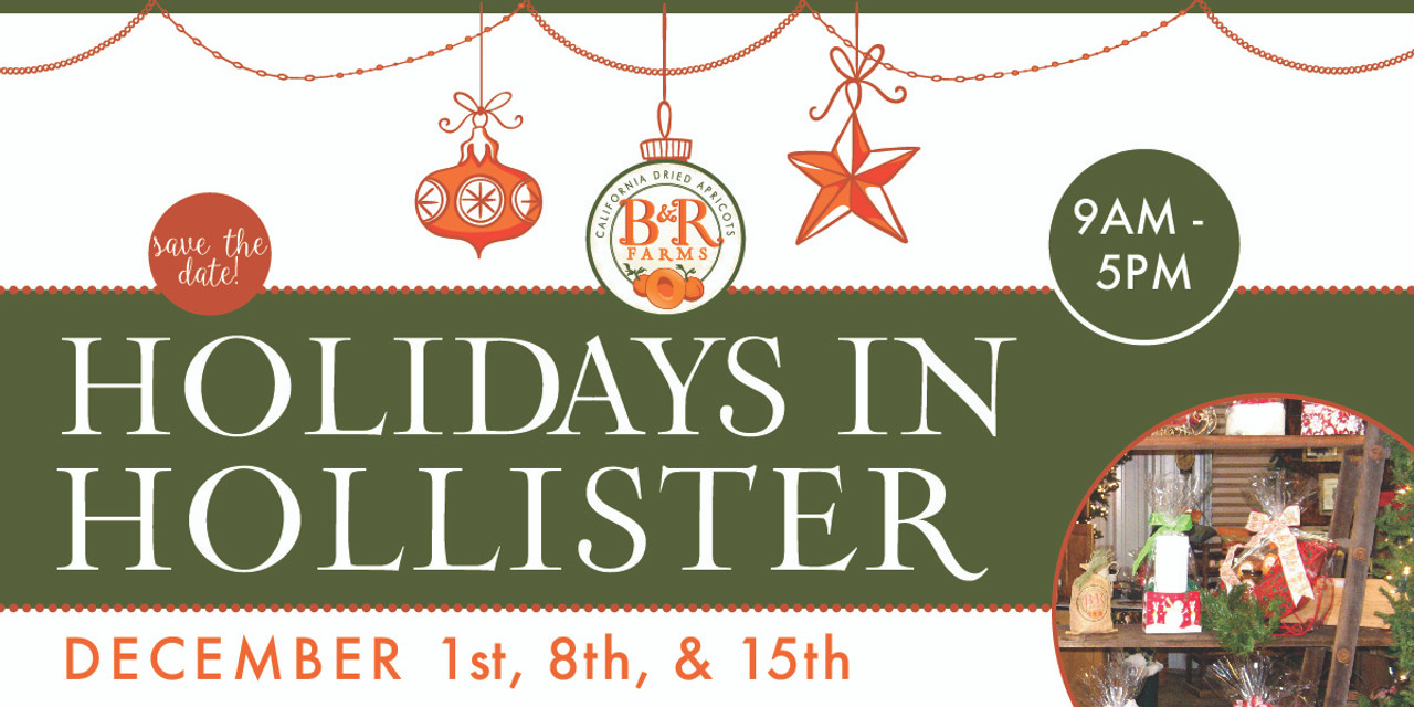 Holidays In Hollister: Shop Amongst Blenheims and Bells!
