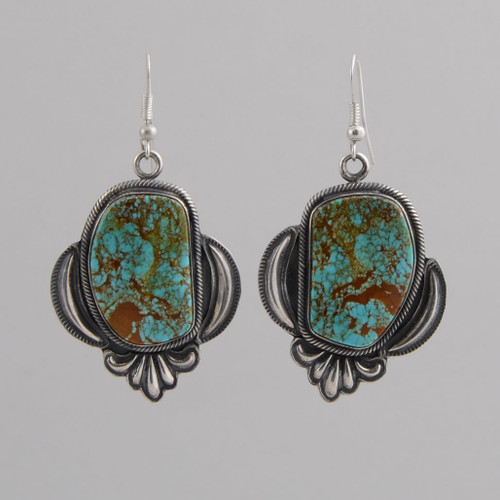 Sterling Silver Earrings w/ Turquoise, Dangle w/ Wire