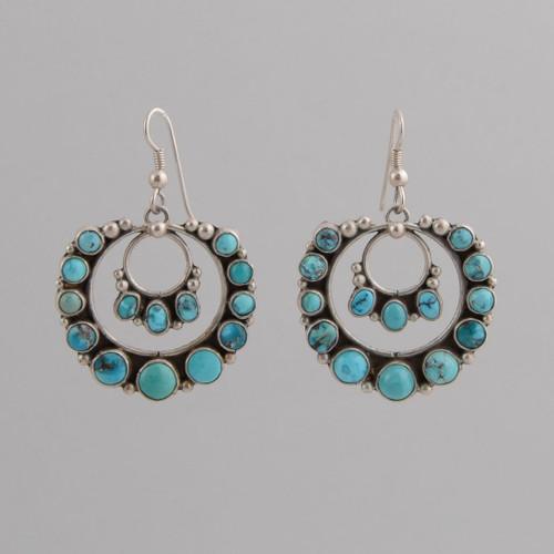 Sterling Silver Earrings /w Persian Turquoise /w Wire.