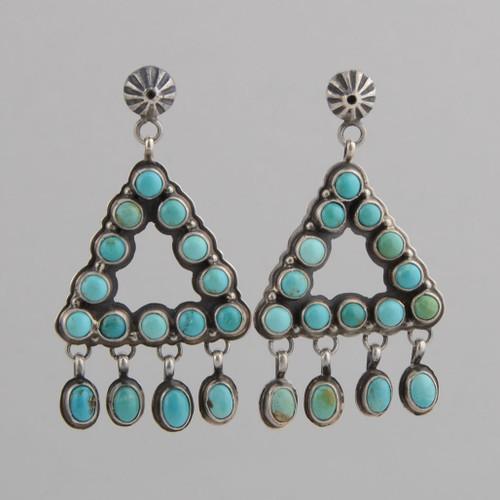 Turquoise Dangle Earrings by Geraldine Yazzie