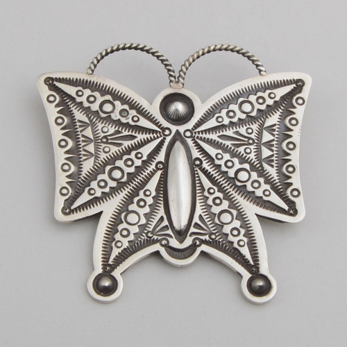 Sterling Silver Butterfly Pendant, by Herman Smith