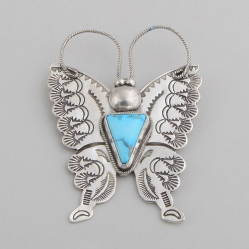 Turquoise Butterfly Pin by Joe Eby