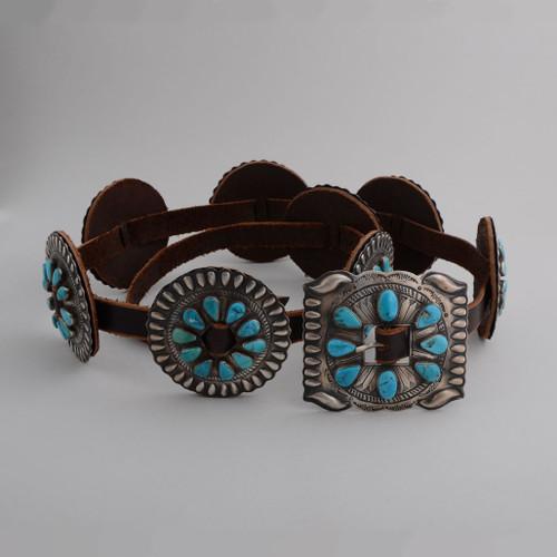 Blue Gem Turquoise Concho Belt