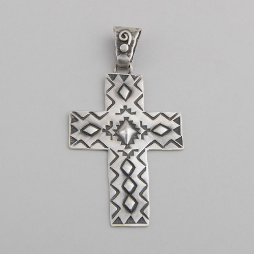 Sterling Silver Cross by Victor Begay