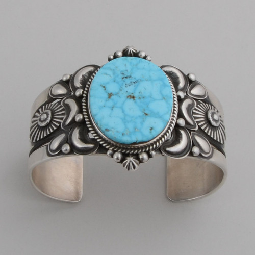Sterling Silver Cuff w/ Kingman Turquoise.