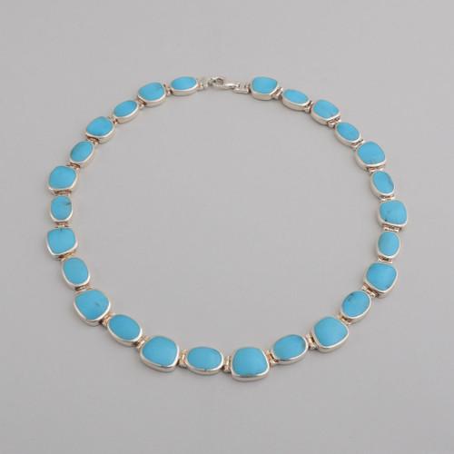 This Peyote Bird necklace has vibrant blue Turquoise!