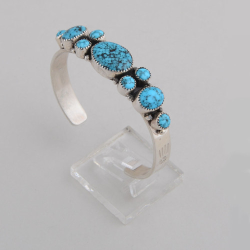 Kingman Turquoise Cuff by George Begay