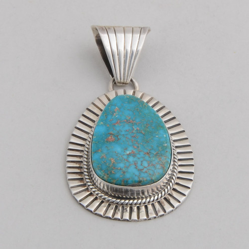 Oval Candelaria Turquoise Pendant by D