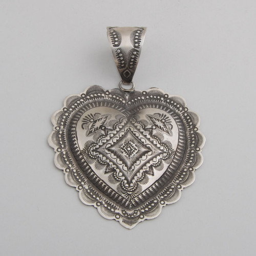 Sterling Silver Heart Pendant by Vincent J. Platero