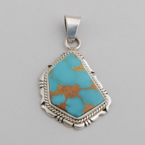 Turquoise Pendant by Marie Bahe