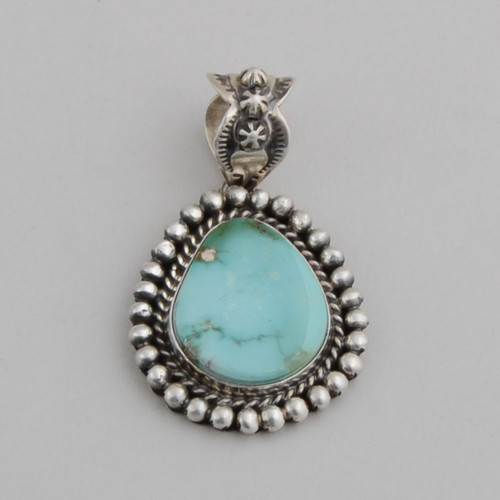Sterling Silver Pendant with Royston Turquoise.