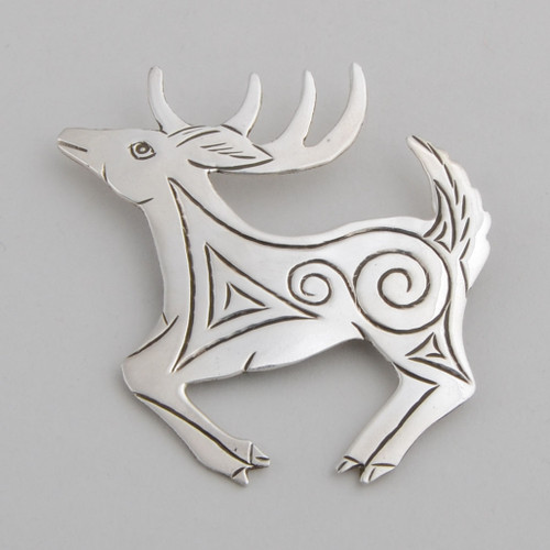Sterling Silver Deer Pin by Lee Charley