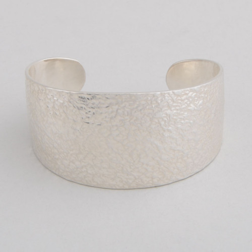 Sterling Silver Cuff w/ Hammered Silver.