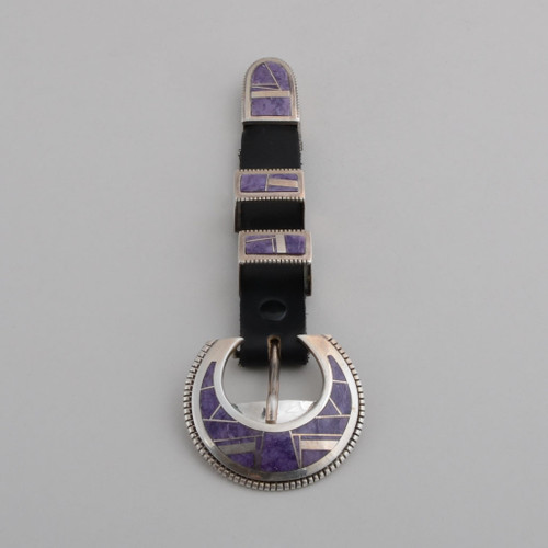 Sterling Silver Ranger Set Inlaid with Charoite.