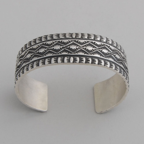 Sterling Silver Cuff w/ Detailed Silver Work.