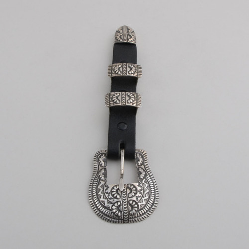 Sterling Silver Ranger Set.  Silver Detail Includes Stamp and Repousse Work.