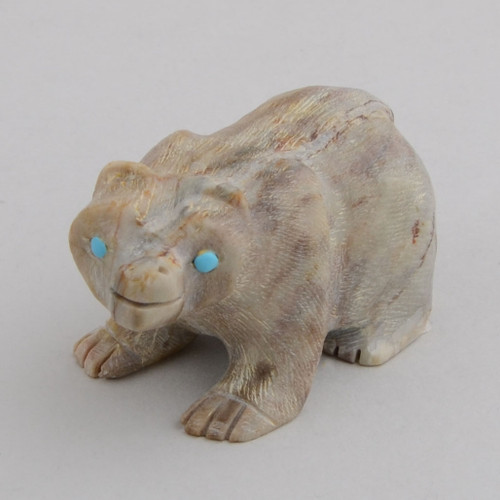 Marble Bear.  The Bear Symbolizes Strength, Introspection, Spiritual Journey Through Life.