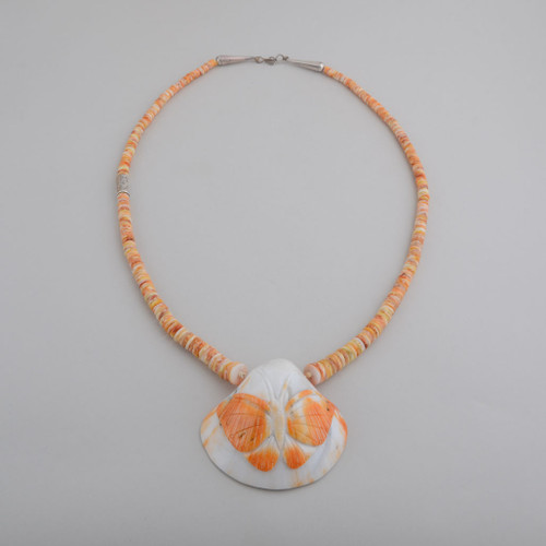 Orange Spiny Oyster Necklace Santa Domingo