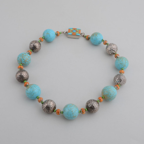 Turquoise Large Bead Necklace