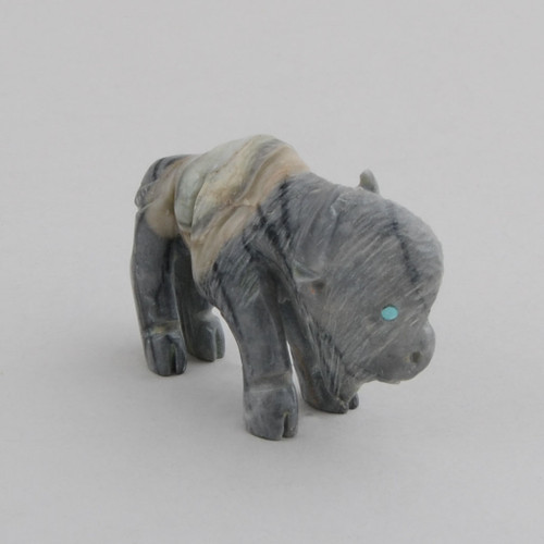 Marble Bison.  The Bison Symbolizes Endurance to Overcome, Emotional Courage.