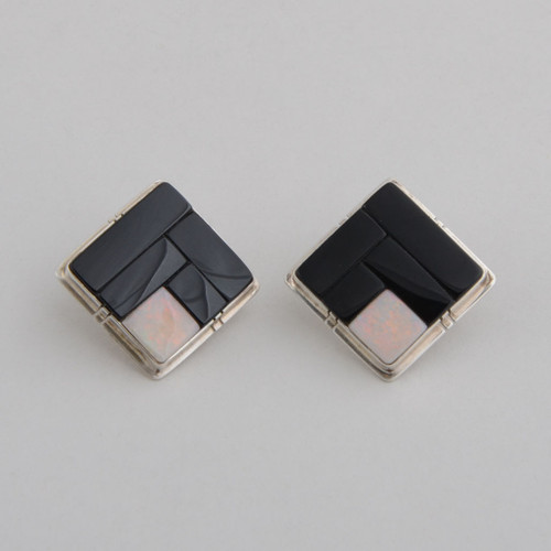 Inlaid Earrings by Jimmy Harrison