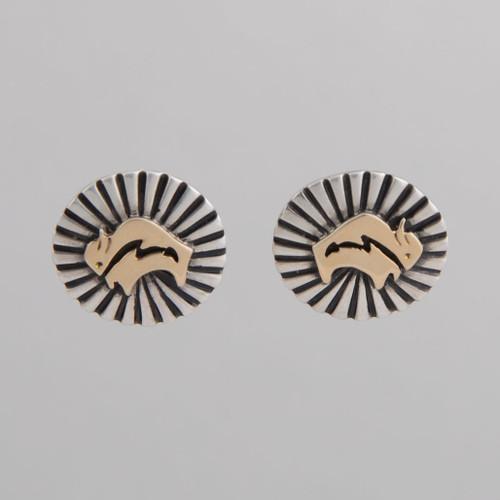 Sterling Silver & 14K Earrings buffalo