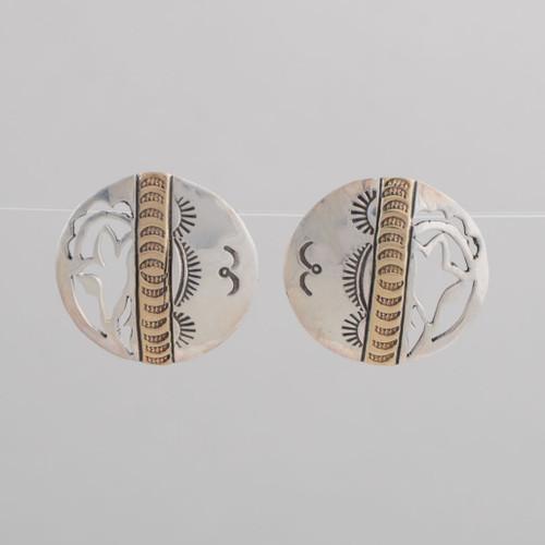 Sterling Silver & 14K Earrings