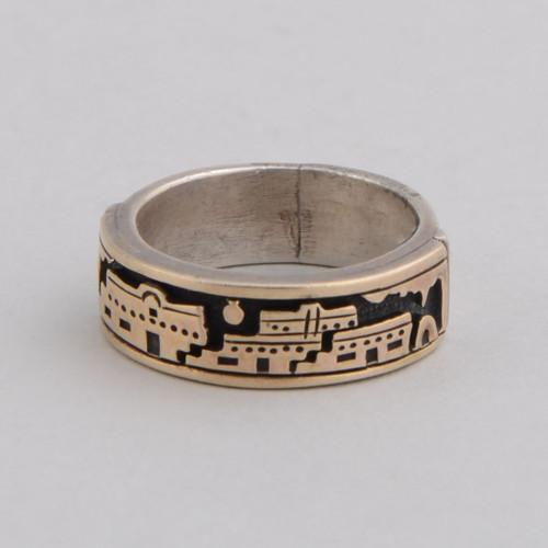 Sterling  Silver & 14K Gold Ring by MMR Studio